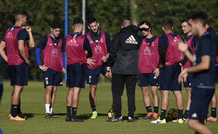 Entrenamiento del Real Oviedo (22/11/17)
