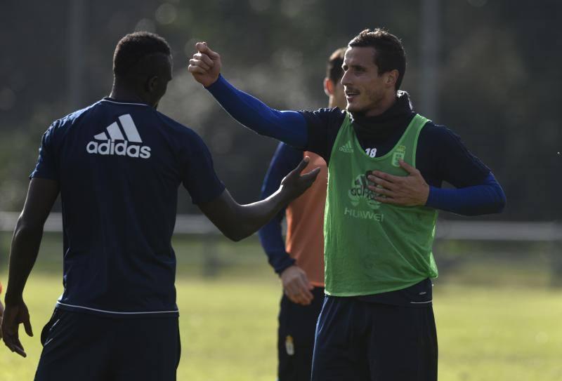 Entrenamiento del Real Oviedo del 13 de diciembre de 2017