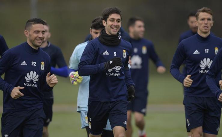 Entrenamiento del Real Oviedo (23 de enero de 2018)