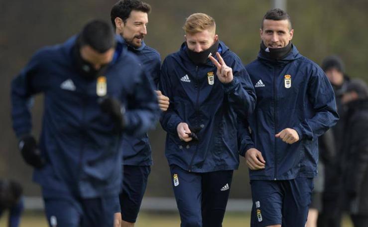 Entrenamiento del Real Oviedo (08/02/2018)