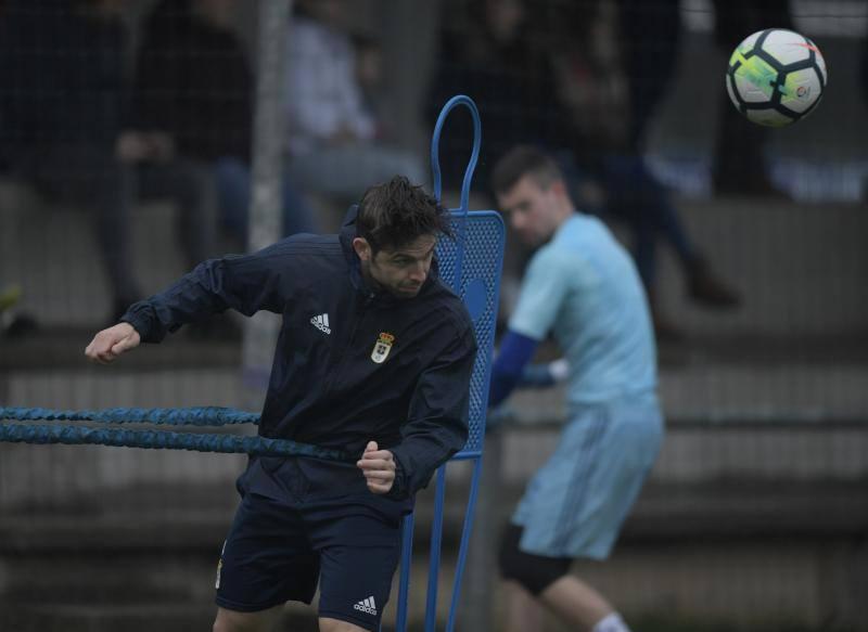 Entrenamiento del Real Oviedo del 21 de febrero de 2018