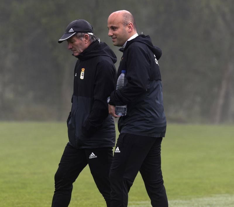 Entrenamiento del Real Oviedo del 5 de abril de 2018
