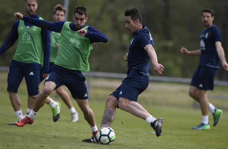 Entrenamiento del Real Oviedo (11/04/18)