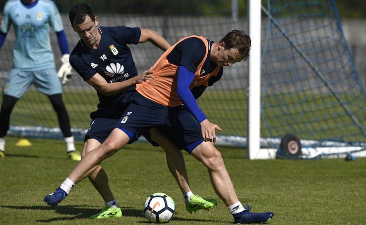 Entrenamiento del Real Oviedo (17-04-2018)