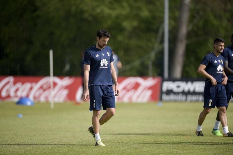 Entrenamiento del Real Oviedo del 21 de abril de 2018