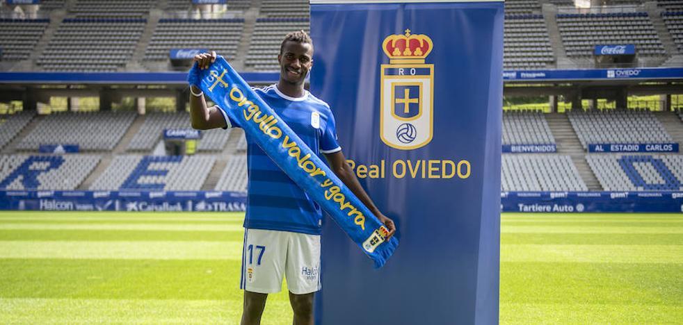 Ibrahima: «Quiero volver a ser 'La Pantera', ojalá el Real Oviedo me ayude a llegar ese nivel»