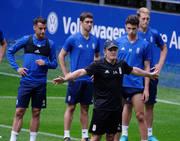 Entrenamiento del Real Oviedo del 8 de agosto de 2018