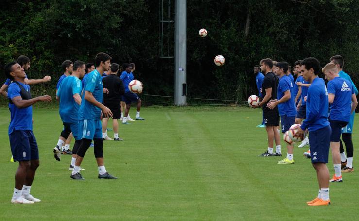 Entrenamiento del Real Oviedo (09/08/2018)