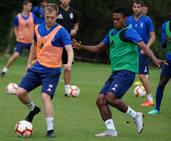 Entrenamiento del Real Oviedo (16/08/2018)