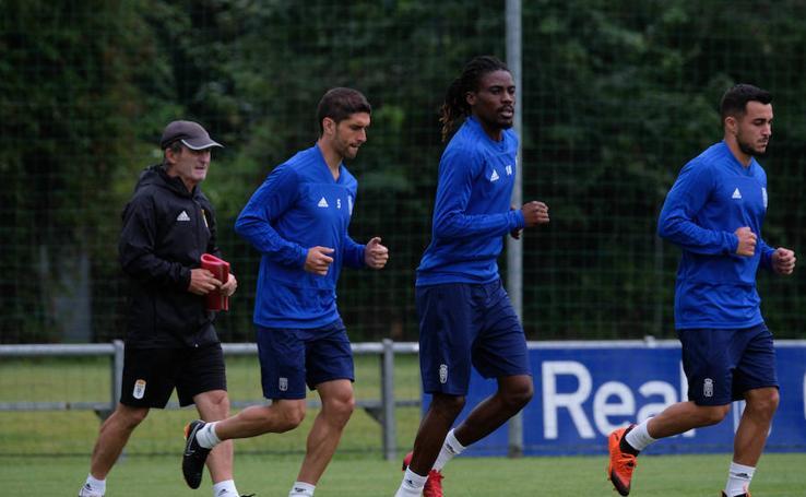 Entrenamiento del Real Oviedo (17/08/2018)