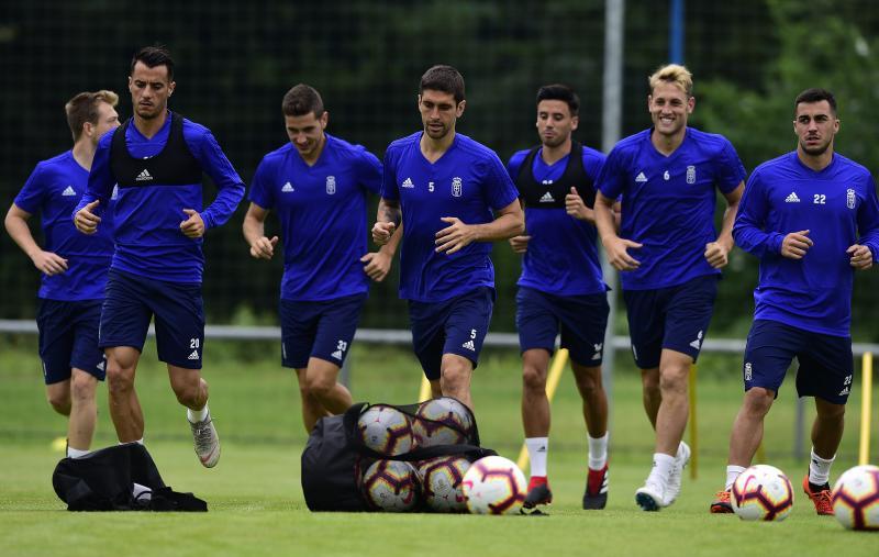 Entrenamiento del Real Oviedo (23/08/18)