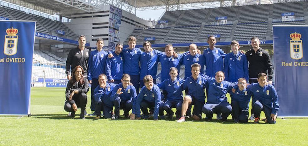 El Real Oviedo presenta su equipo para La Liga Genuine