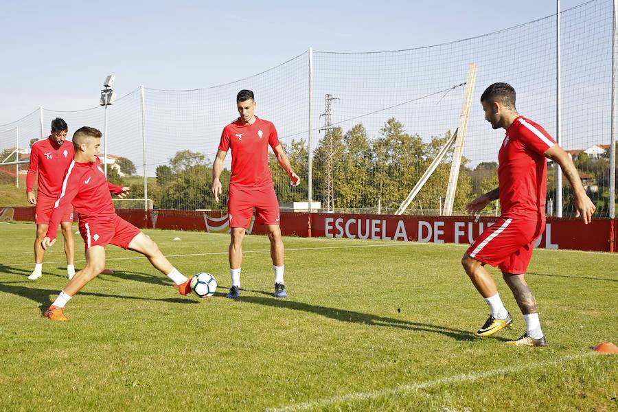 Entrenamiento del Sporting (12-12-2017)