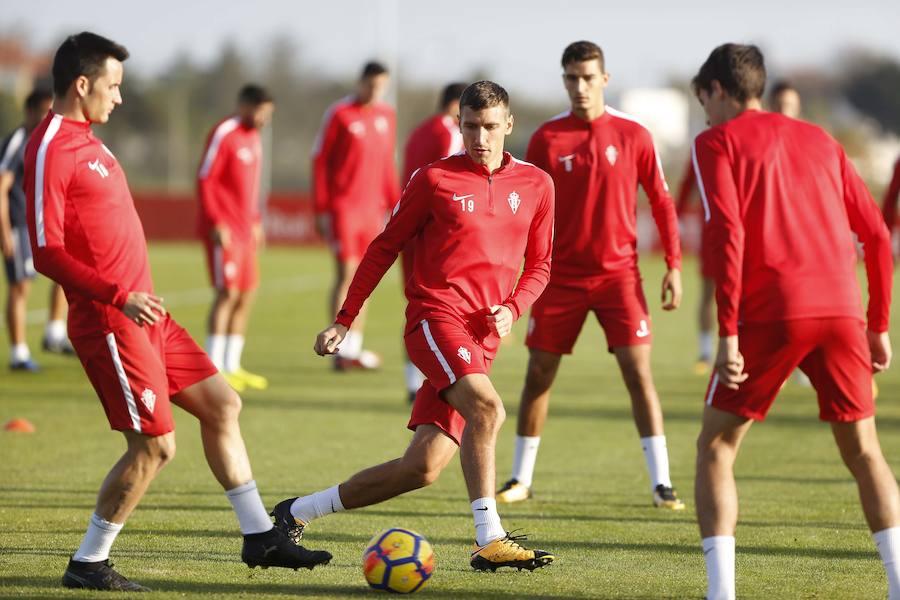 Entrenamiento del Sporting (27-10-2017)