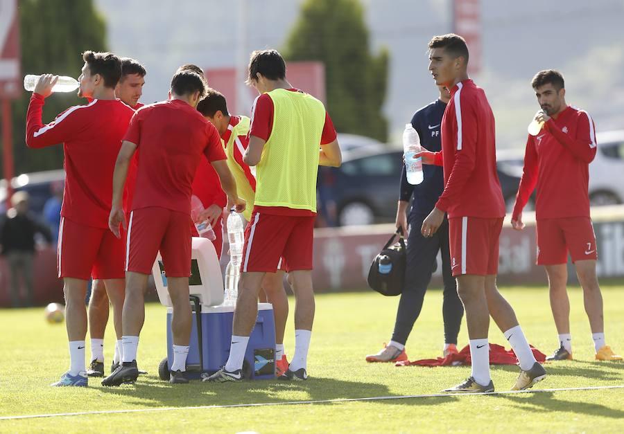 Entrenamiento del Sporting (03-11-2017)