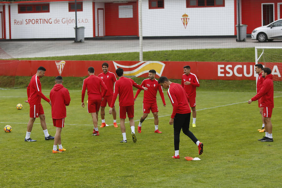 Entrenamiento del Sporting (10-11-17)