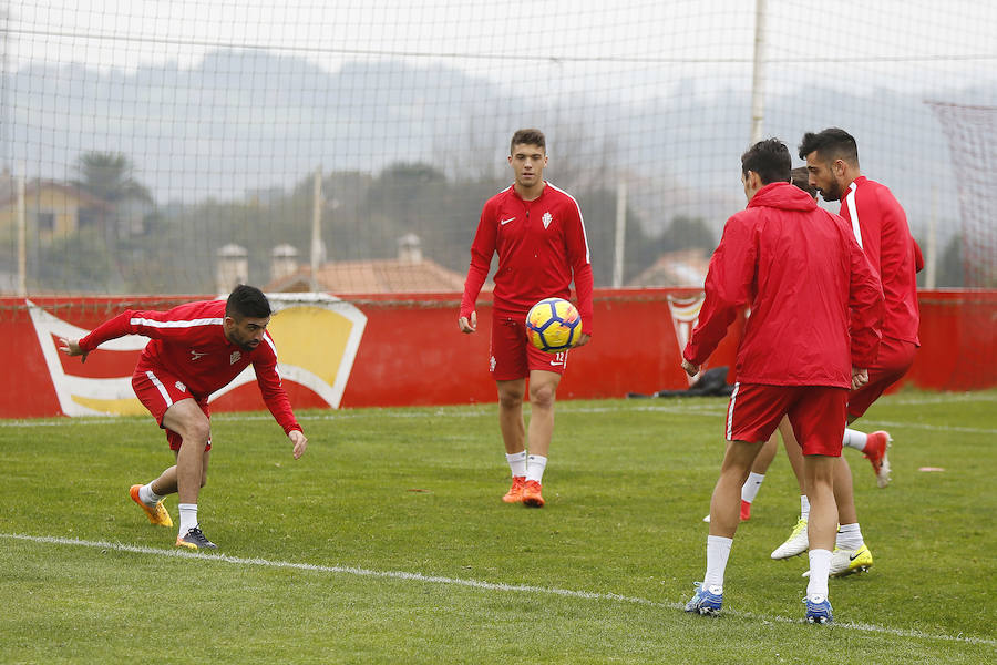 Entrenamiento del Sporting (17/11)