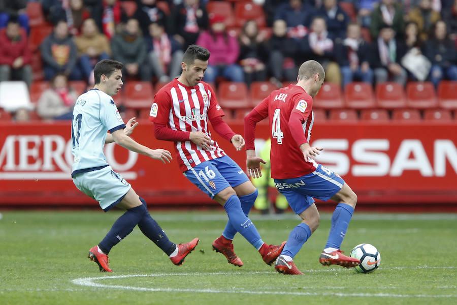 El Sporting 2-0 Numancia, en imágenes