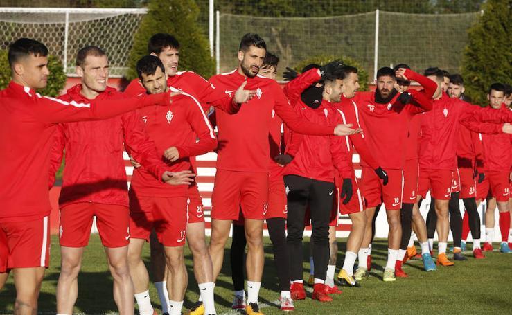Entrenamiento del Sporting (03/03/2018)