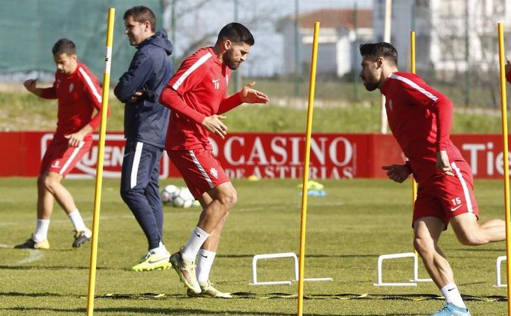Entrenamiento del Sporting (07/03/2018)