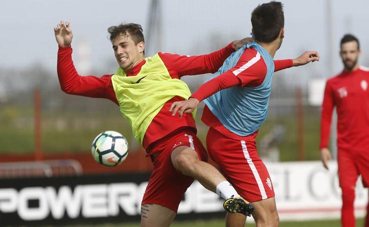 Entrenamiento del Sporting (5-04-2018)