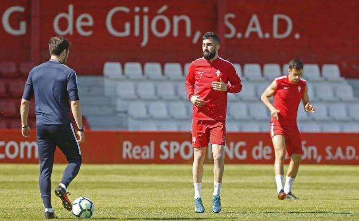 Entrenamiento del Sporting (18-04-2018)