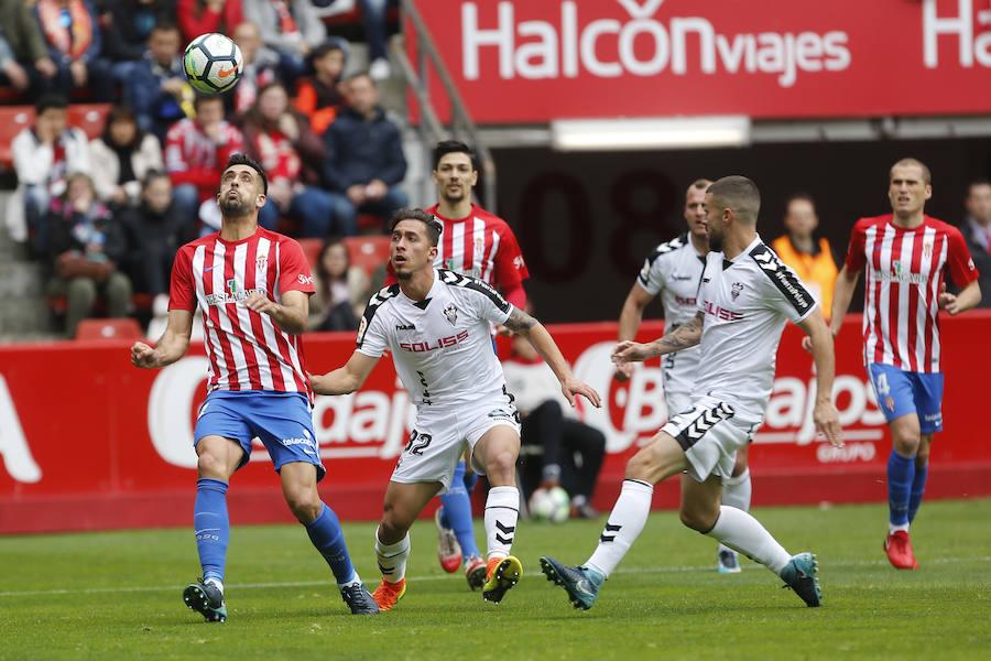 Sporting 2 - 1 Albacete, en imágenes