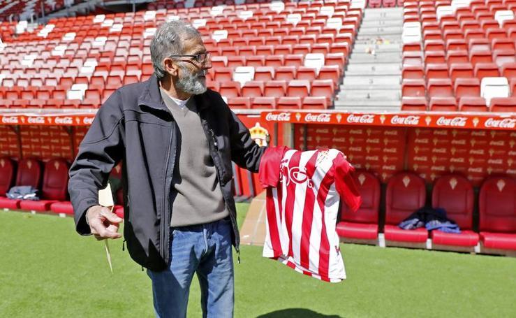 La visita de Manolo Mesa al Sporting