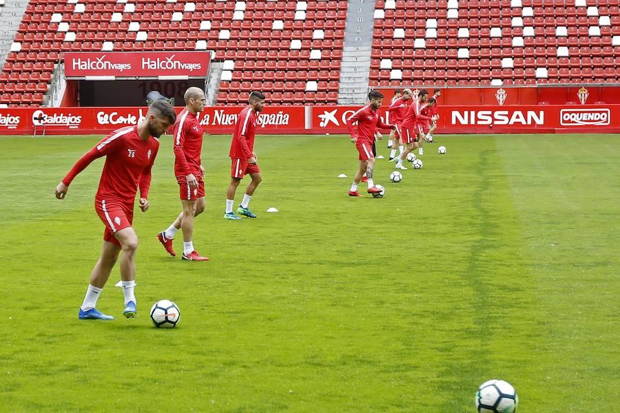 Entrenamiento del Sporting (6-6-18)