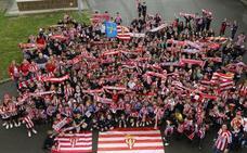 Un colegio de Gijón se tiñe de rojiblanco en apoyo al Sporting