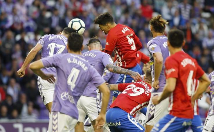 Las mejores imágenes del Valladolid - Sporting (3-1)