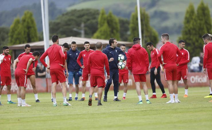Entrenamiento del Sporting (09/06/2018)