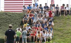 Llegan los niños al Campus del Sporting