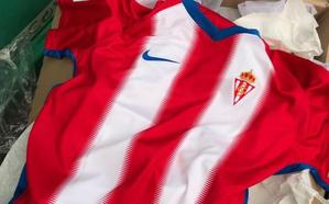 Un 'descuido' deja al descubierto la nueva camiseta del Sporting