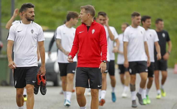 Entrenamiento del Sporting (18-07-2018)