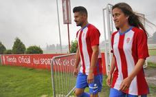 El Sporting estrena equipación con más azul y homenaje a Quini