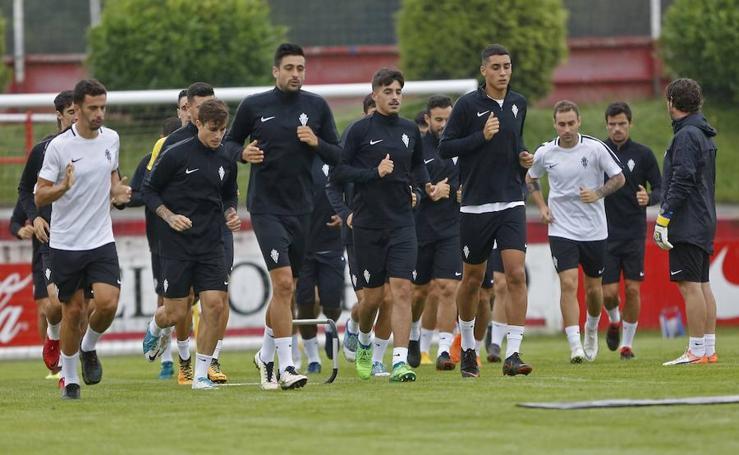 Entrenamiento del Sporting (19-7-18)