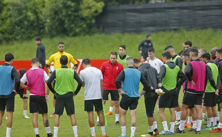 Entrenamiento del Sporting (20/07/18)