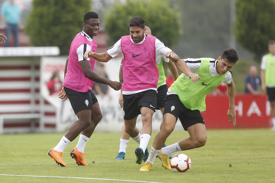 Entrenamiento del Sporting (26/07/18)