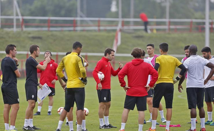Entrenamiento del Sporting (27/07/18)