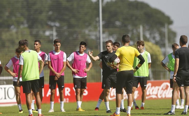 Entrenamiento del Sporting (30/07/18)