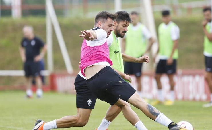 Entrenamiento del Sporting (31-07-2018)
