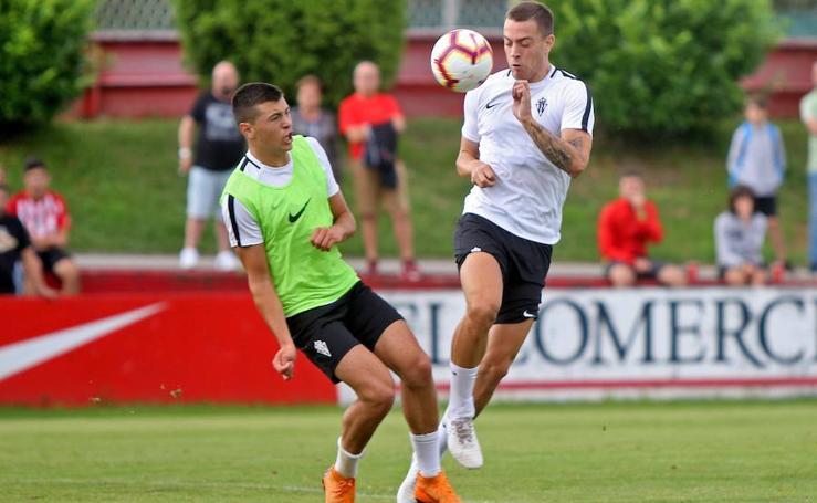 Entrenamiento del Sporting (09/08/2018)