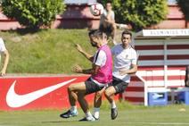 Entrenamiento del Sporting (15/08/18)