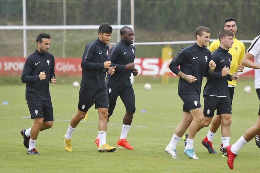 Entrenamiento del Sporting (16/08/18)