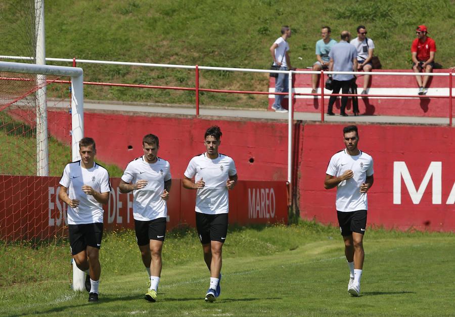 Entrenamiento del Sporting (19-08-2018)
