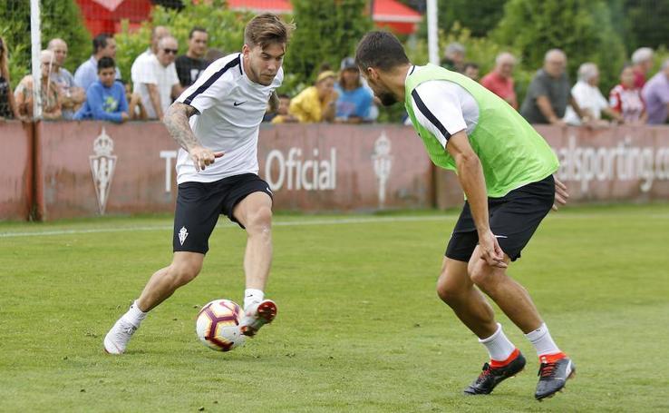 Entrenamiento del Sporting (23-08-2018)