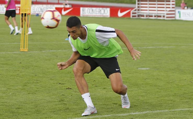 Entrenamiento del Sporting (25-8-18)