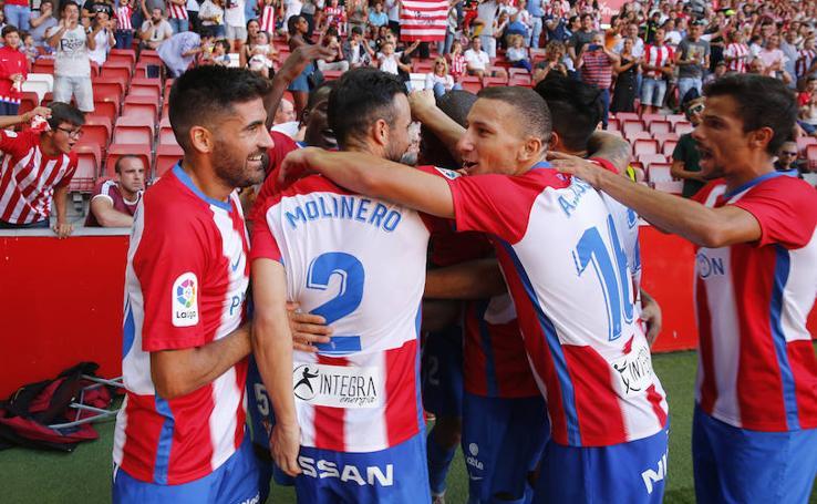 El Sporting 2-0 Nàstic, en imágenes