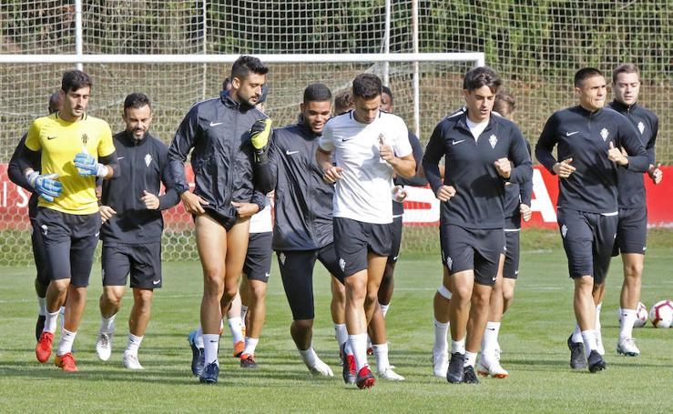 Entrenamiento del Sporting (07-09-2018)